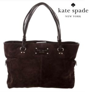 Kate Spade Rudy Lake Forest Brown Suede Tote